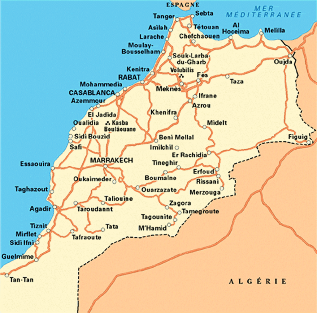 Marocco Cartina.To Organize A Trip In Morocco Merzouga Tours